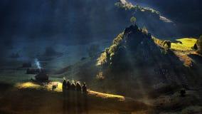 Het verre dorp van Transsylvanië in de Karpatische bergen royalty-vrije stock afbeeldingen