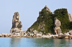 Het Verre Oosten van Rusland. De kust van het Japanse overzees Stock Fotografie