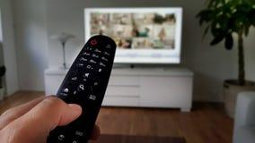 Het verre richten naar televisie Royalty-vrije Stock Foto's