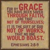 Het Vers van de Ephesians 2:89 Bijbel royalty-vrije stock afbeeldingen