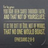 Het Vers van de Ephesians 2:89 Bijbel royalty-vrije stock foto's
