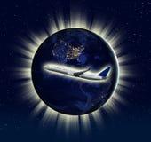 Het verschepen concept (Sommige die elementen van NASA worden gebruikt) Royalty-vrije Stock Foto's