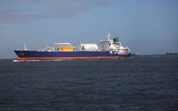 Het verschepen en handelstraffice bij de Haven van de ingang van Galveston Texas aan de Golf van Mexico stock afbeelding