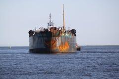 Het verschepen en handelstraffice bij de Haven van de ingang van Galveston Texas aan de Golf van Mexico royalty-vrije stock fotografie