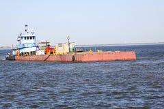 Het verschepen en handelstraffice bij de Haven van de ingang van Galveston Texas aan de Golf van Mexico royalty-vrije stock afbeelding