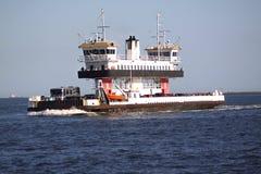Het verschepen en handelstraffice bij de Haven van de ingang van Galveston Texas aan de Golf van Mexico stock foto