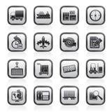 Het verschepen en Logistiekpictogrammen Stock Afbeelding