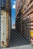 Het verschepen het gebied van de containeropslag Royalty-vrije Stock Foto's