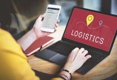 Het verschepen Logistisch de Ladingsconcept van de Leveringsvracht Stock Foto's