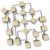 Het verschepen Oplossingen op Wit Stock Afbeelding