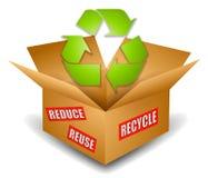 Het verschepende Symbool van het Recycling van de Doos stock illustratie