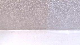 Het verschil tussen het geschilderde plafond stock footage
