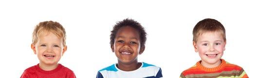 Het verschillende kinderen lachen royalty-vrije stock afbeelding
