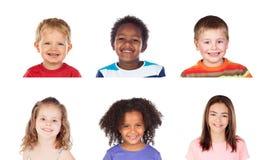 Het verschillende kinderen lachen stock afbeeldingen