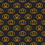 Het verschillende lineaire naadloze patroon van Halloween met heks Royalty-vrije Stock Foto