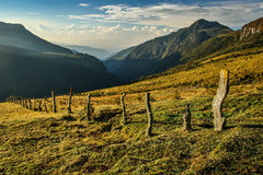 Het verse berglandschap rond Primavera-hut, Colombia Stock Foto's