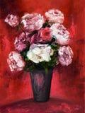 Het verse bloemen schilderen royalty-vrije stock fotografie