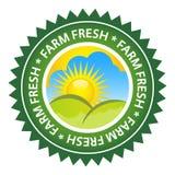 Het Verse Etiket van het landbouwbedrijf Stock Foto