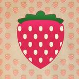 Het verse Grafische Fruit van de Aardbei Royalty-vrije Stock Afbeeldingen
