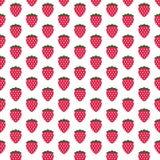 Het verse Grafische patroon van het Fruit van de Aardbei Stock Fotografie
