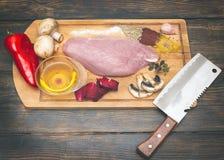 Het verse koken van Turkije Stock Afbeeldingen