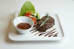 Het verse lapje vlees van de landbouwbedrijf organische rib Stock Afbeelding