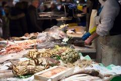 Het verse paviljoen van de vissenmarkt Royalty-vrije Stock Foto's
