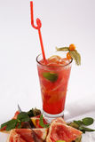Het verse sap van de grapefruit Stock Fotografie