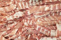 Het verse varkensvlees scheurt in markt Royalty-vrije Stock Foto