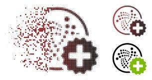 Het verspreide Halftone Pixel leidt Jota-tot Pictogram stock illustratie