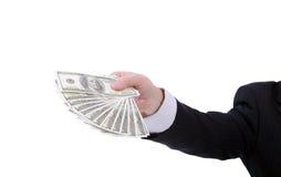 Het verspreiden van dollars Stock Foto