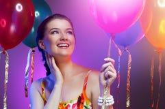 Het verstandballons van het meisje Royalty-vrije Stock Foto