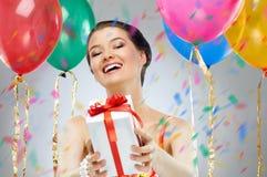 Het verstandballons van het meisje Royalty-vrije Stock Afbeeldingen