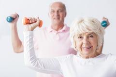 Het versterken van de spieren stock foto's