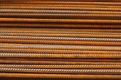 Het versterken van staalbars of rebar achtergrond Stock Foto