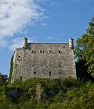 Het versterkte bastion van de kasteelmuur Stock Fotografie