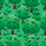 Het verticale groene naadloze patroon van de installatieboom stock illustratie