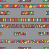 Het verticale kleurrijke naadloze patroon van de weglijn stock illustratie
