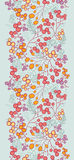Het verticale naadloze patroon van de winterbessen Stock Afbeelding
