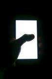 Het verticale witte scherm van de telefoon Royalty-vrije Stock Foto