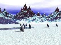 Het Vertrek van de pinguïn Royalty-vrije Stock Foto