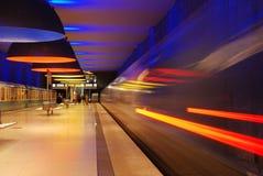 Het vertrekken metro royalty-vrije stock afbeeldingen