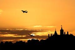 Het vertrekken Ottawa van vliegtuigen Stock Foto
