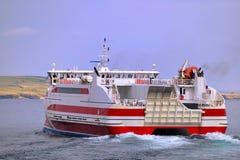 Het vertrekken snelle veerboot, Schotland Stock Foto