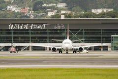 Het Vertrekken van het vliegtuig Stock Foto's
