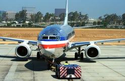 Het vertrekken van Jetliner Royalty-vrije Stock Foto's