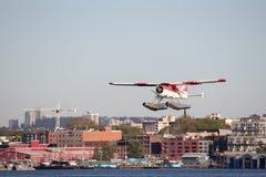 Het Vertrekken Vancouver van het watervliegtuig Haven royalty-vrije stock afbeelding