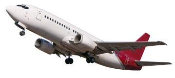 Het vertrekken vliegtuigen stock foto