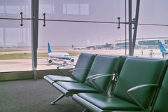 Het vertrekzaal van de luchthaven Royalty-vrije Stock Foto's