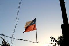 Het verval in sommige delen van Chili is overweldigend maar het patriottisme bevindt zich nog royalty-vrije stock afbeeldingen